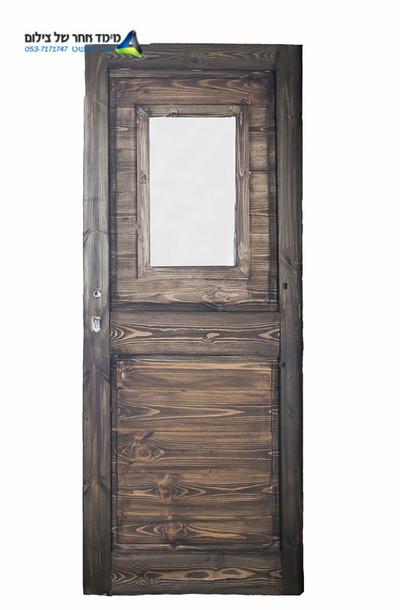 דלת מחסן עץ